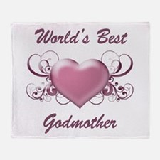 World's Best Godmother (Heart) Throw Blanket
