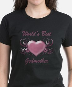 World's Best Godmother (Heart) Tee