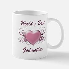 World's Best Godmother (Heart) Mug