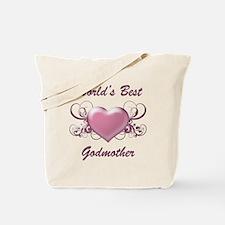 World's Best Godmother (Heart) Tote Bag