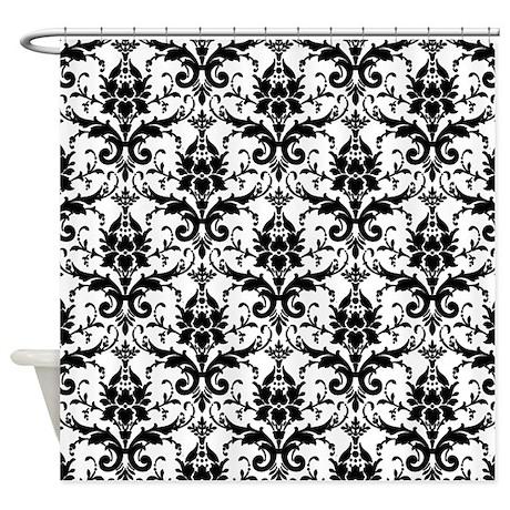 Black White Damask Shower Curtain By Fashionstinks