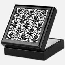 Black and White Damask Keepsake Box