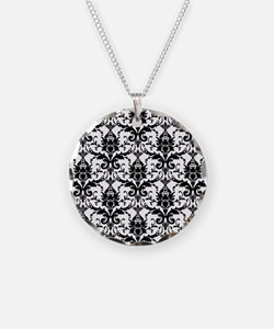 Black and White Damask Necklace