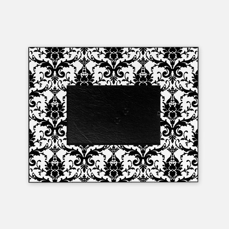 Black and White Damask Picture Frame