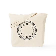 Dozenal Clock Dark Gray Tote Bag