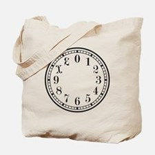 Dozenal Clock Dark Gray Tote Bag