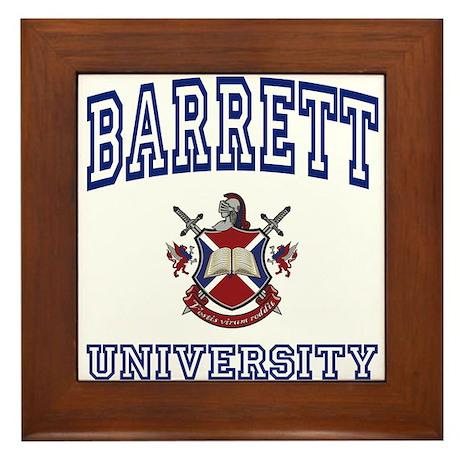 BARRETT University Framed Tile