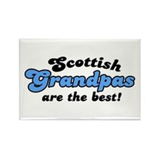 Scottish Grandpas are the Best Rectangle Magnet