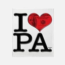 I Love PAy Throw Blanket
