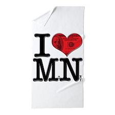 I Love MoNey Beach Towel
