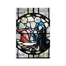 Saint Catherine of Sienna Rectangle Magnet