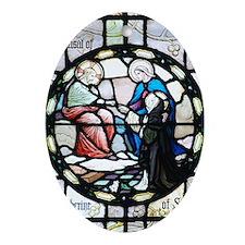 Saint Catherine of Sienna Oval Ornament