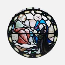 Saint Catherine of Sienna Round Ornament