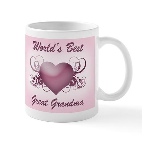 World's Best Great Grandmother (Heart) Mug
