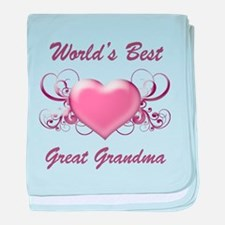 World's Best Great Grandmother (Heart) baby blanke