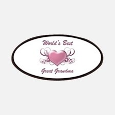 World's Best Great Grandmother (Heart) Patches