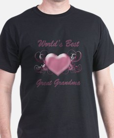 World's Best Great Grandmother (Heart) T-Shirt