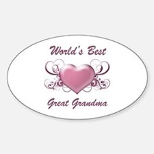 World's Best Great Grandmother (Heart) Decal