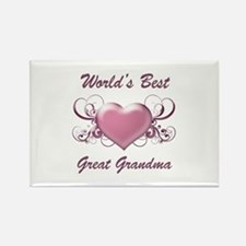 World's Best Great Grandmother (Heart) Rectangle M