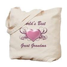 World's Best Great Grandmother (Heart) Tote Bag
