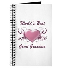 World's Best Great Grandmother (Heart) Journal
