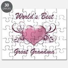 World's Best Great Grandmother (Heart) Puzzle