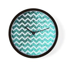 Chevron Glitter Bling Sparkly Pattern ( Wall Clock