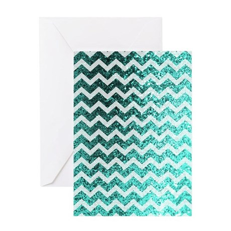 Chevron Glitter Bling Sparkly Patter Greeting Card