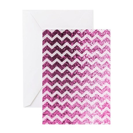 Glitter Bling Sparkly Chevron Patter Greeting Card