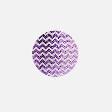 Glitter Bling Sparkly Chevron Pattern  Mini Button