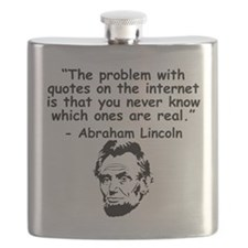 Abraham Lincoln Internet Quote Flask