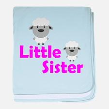 Little Sister Sheep baby blanket