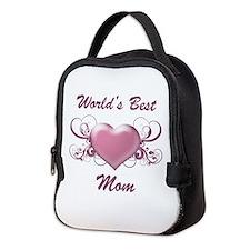 World's Best Mom (Heart) Neoprene Lunch Bag