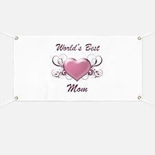 World's Best Mom (Heart) Banner