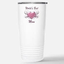 World's Best Mom (Heart) Travel Mug