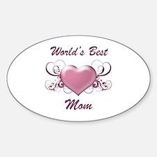 World's Best Mom (Heart) Decal