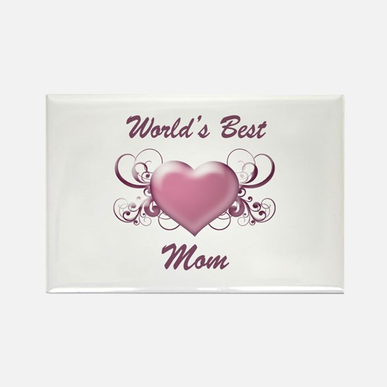 World's Best Mom (Heart) Rectangle Magnet