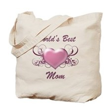 World's Best Mom (Heart) Tote Bag