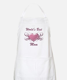 World's Best Mom (Heart) Apron