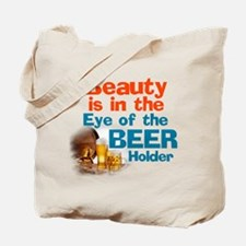Eye of the Beer Holder Tote Bag