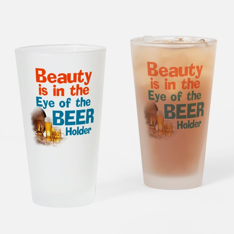 Eye of the Beer Holder Drinking Glass