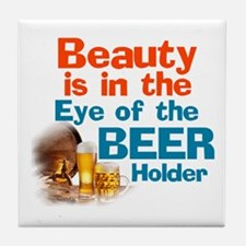 Eye of the Beer Holder Tile Coaster
