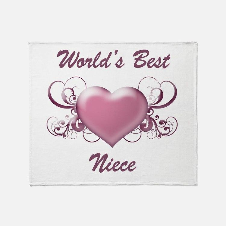 World's Best Niece (Heart) Throw Blanket