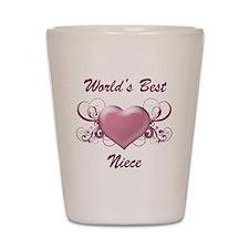 World's Best Niece (Heart) Shot Glass