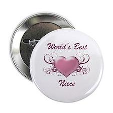 "World's Best Niece (Heart) 2.25"" Button"