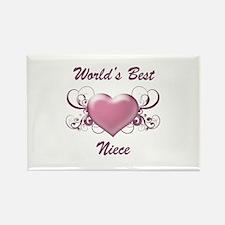 World's Best Niece (Heart) Rectangle Magnet (10 pa