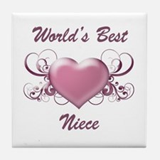World's Best Niece (Heart) Tile Coaster