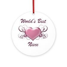 World's Best Niece (Heart) Ornament (Round)