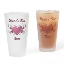 World's Best Niece (Heart) Drinking Glass