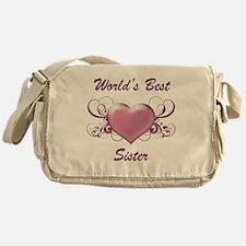 World's Best Sister (Heart) Messenger Bag